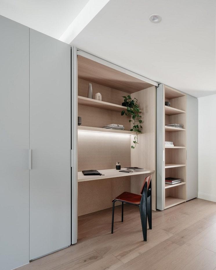 ایده دفتر خانه در دیوار کابینت_8