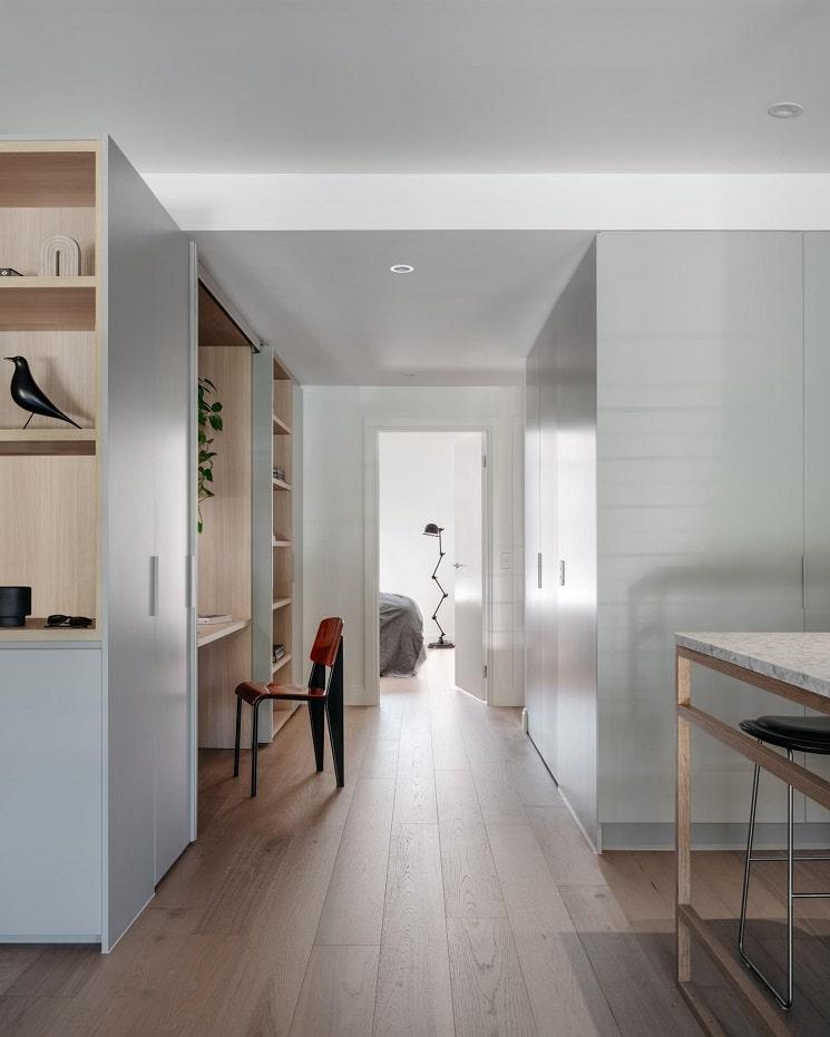 ایده دفتر خانه در دیوار کابینت_5